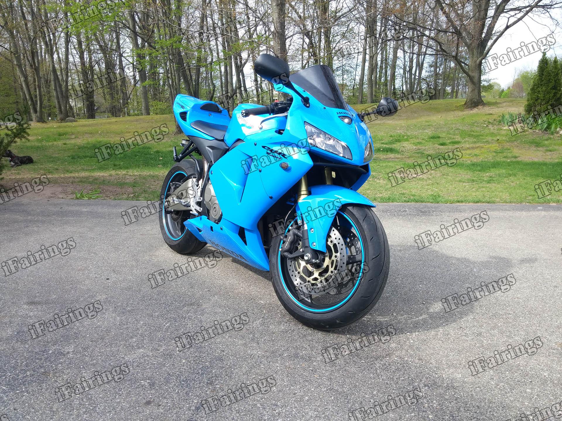 2005 2006 Honda Cbr600rr Sky Blue Paint Fairing Kit Ifairings